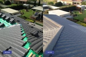 new tile roof before and after