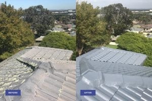 tile roof restoration before and after