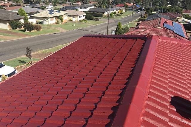 tile roof restored red